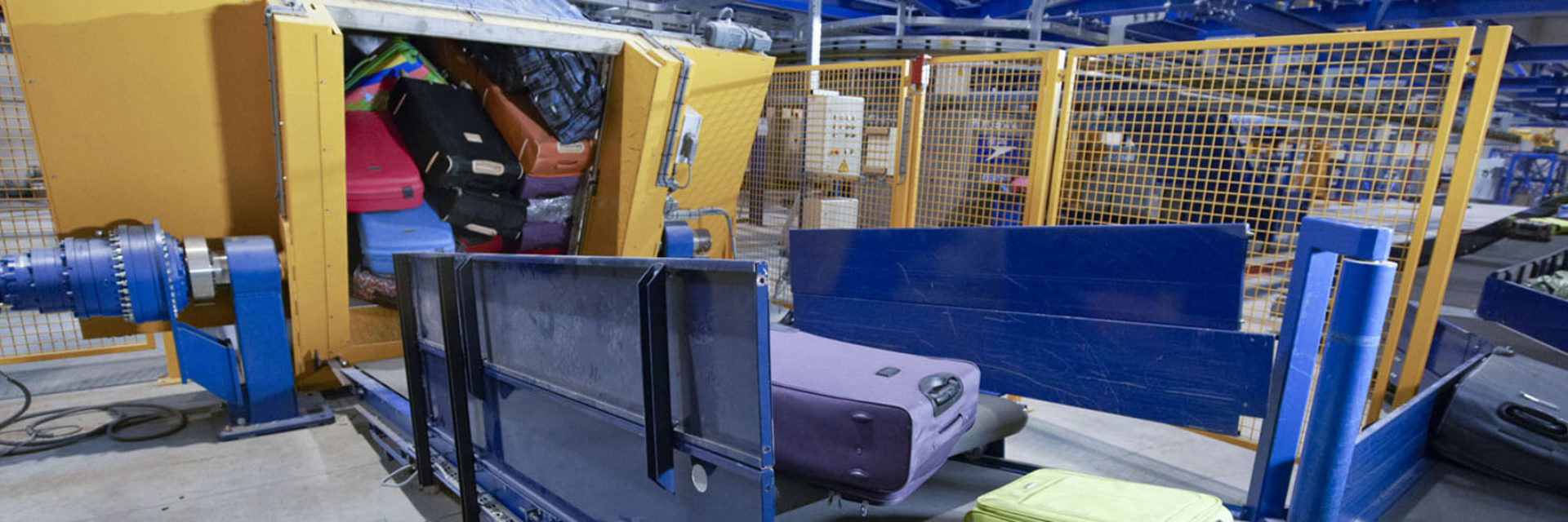 Automatisierte Container Entlader